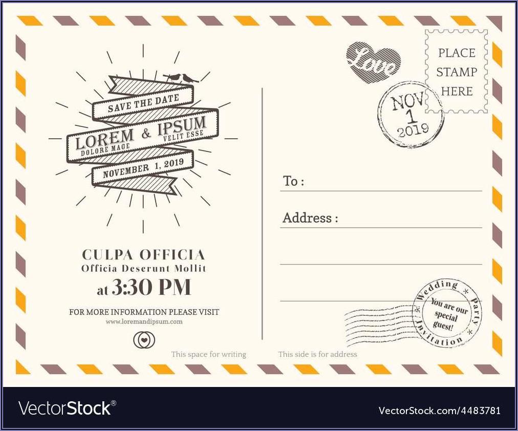 Invitation Postcard Template Free