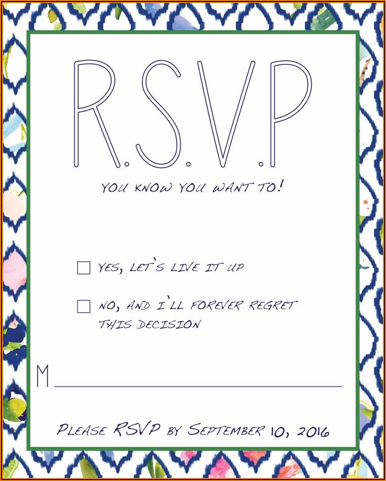 Invitation Rsvp Text Message Sample