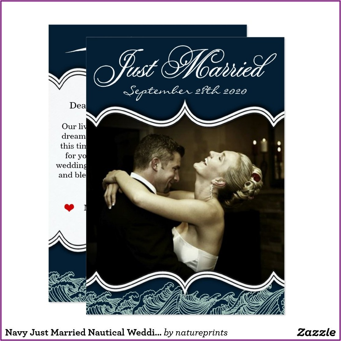 Just Married Photo Card Announcements