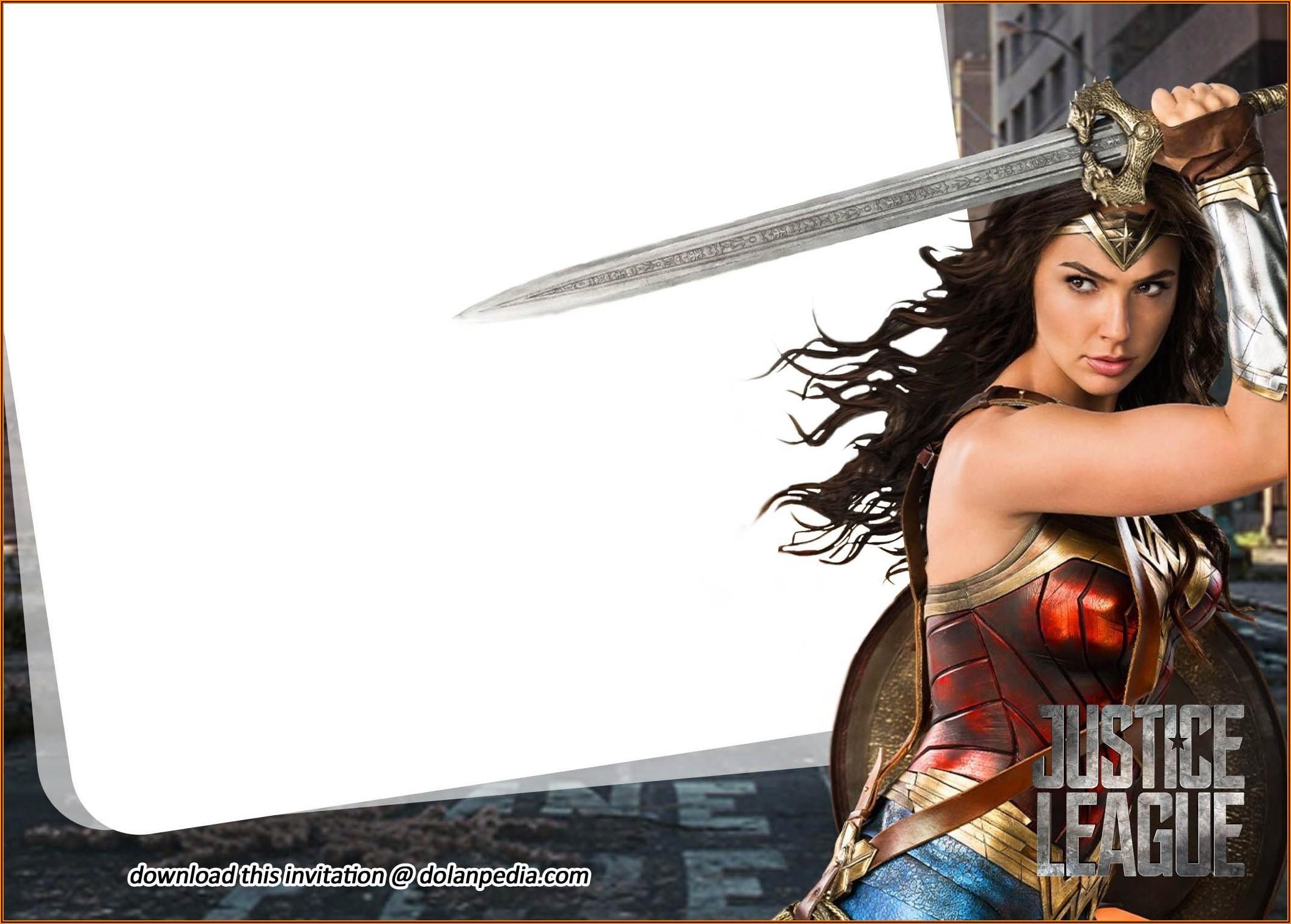 Justice League Birthday Invitations Templates Free