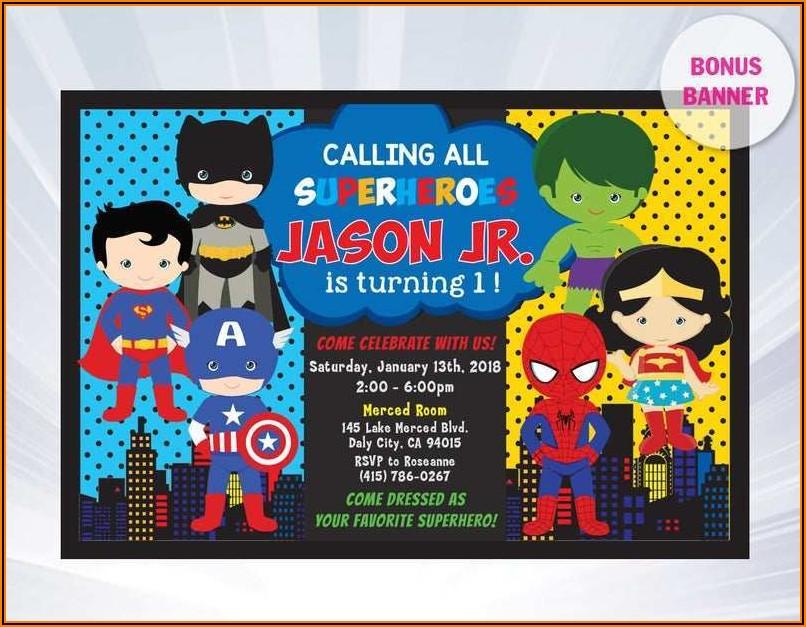 Justice League Invitation Template Free