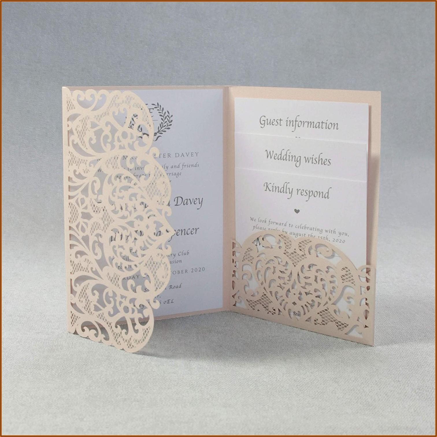 Laser Cut Pocket Wedding Invitations Diy