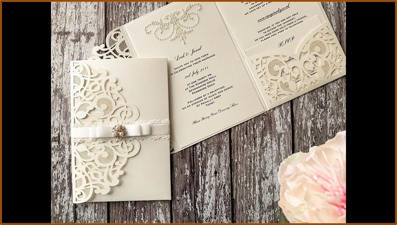 Laser Cut Wedding Invitation Pocket Uk