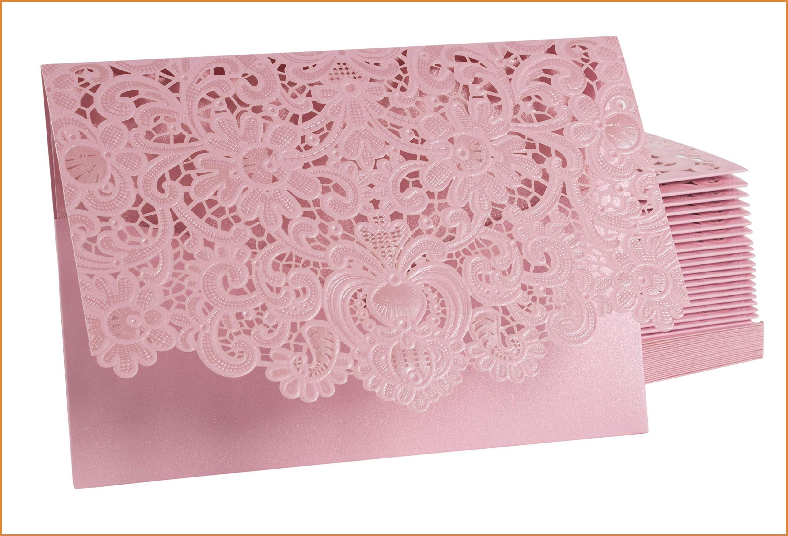 Laser Cut Wedding Invitation Pockets