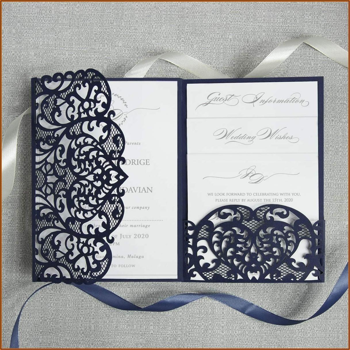 Laser Cut Wedding Invitations Diy