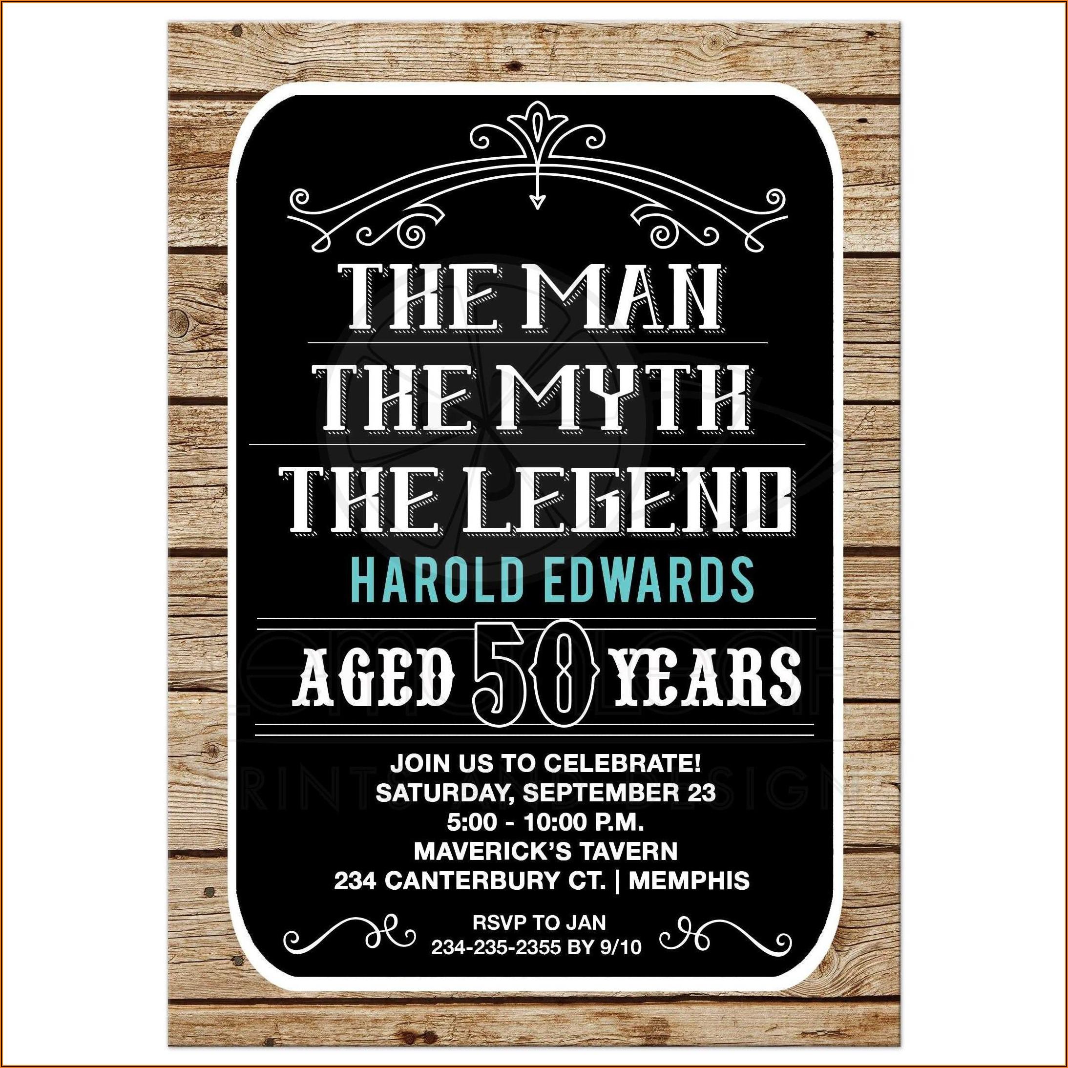 Male 50th Birthday Invitation Message