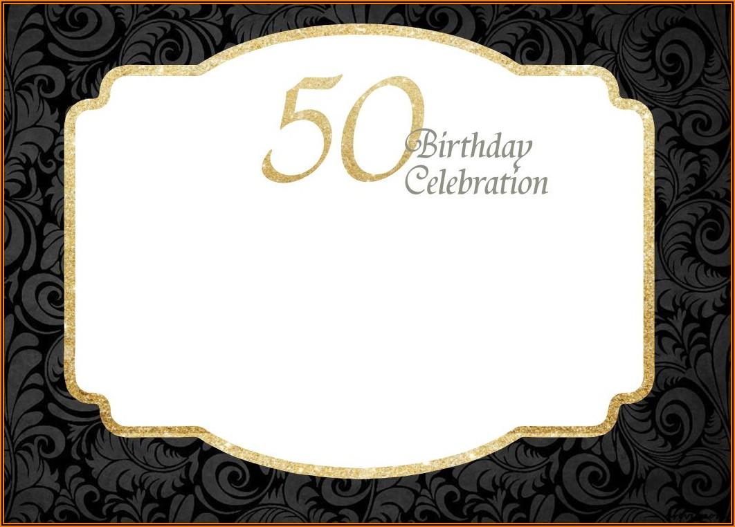 Male 50th Birthday Invitations Free