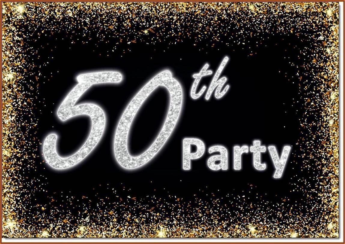 Male 50th Birthday Invitations