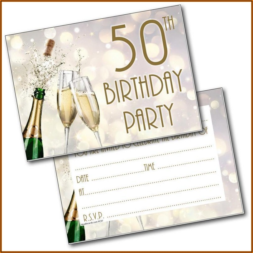 Male 50th Birthday Party Invitations