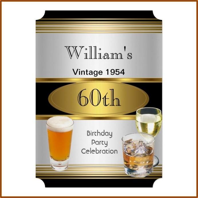 Male 60th Birthday Invitation Ideas