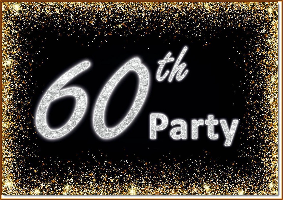 Male 60th Birthday Party Invitations