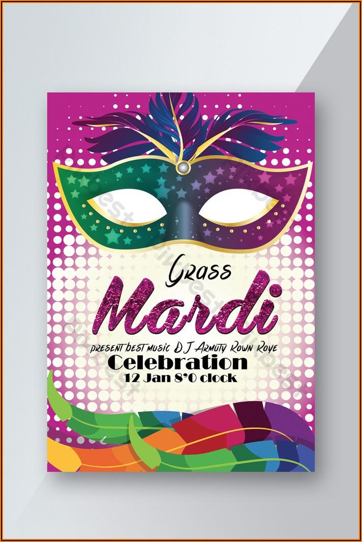 Mardi Gras Party Invitation Template