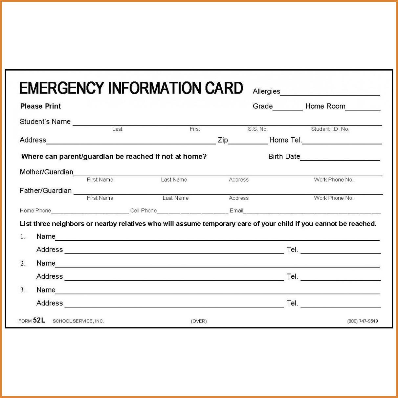 Medication Card Template