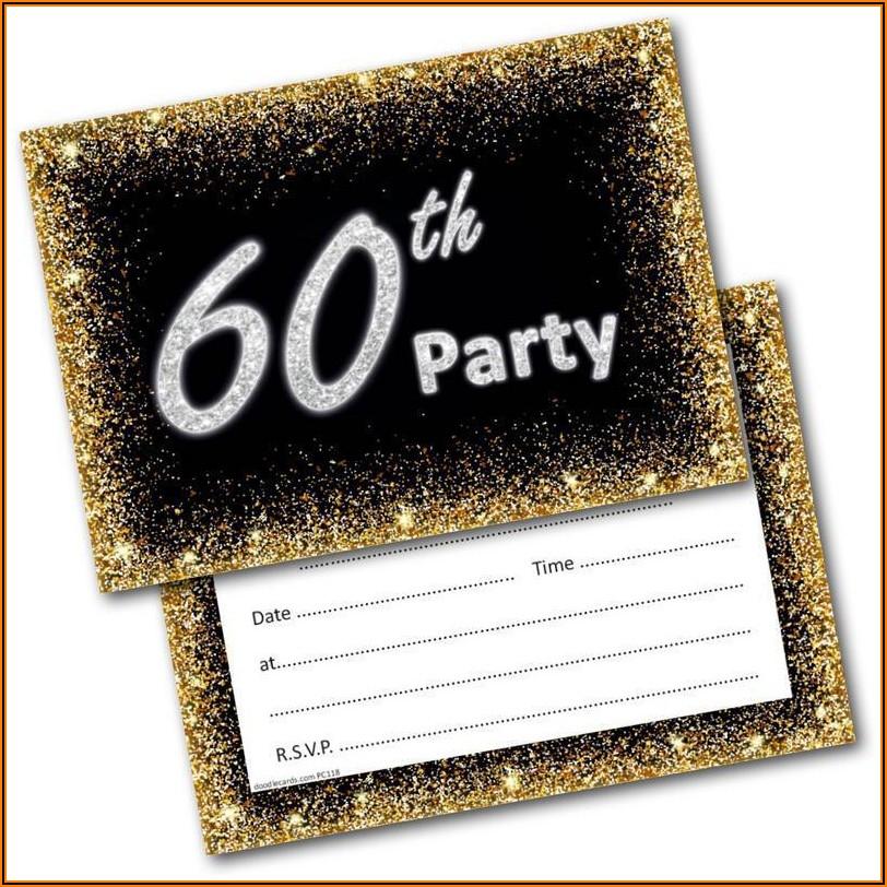 Mens 60th Birthday Party Invitations