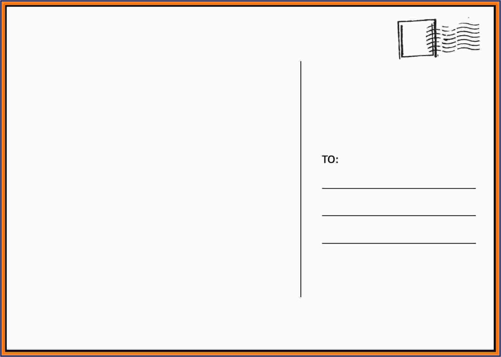 Microsoft Postcard Templates Free