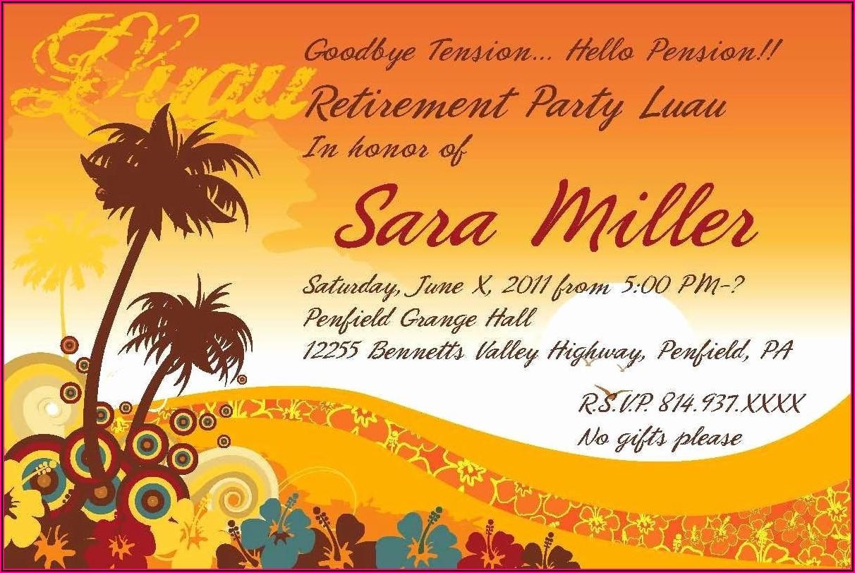 Microsoft Word Retirement Party Invitation Template