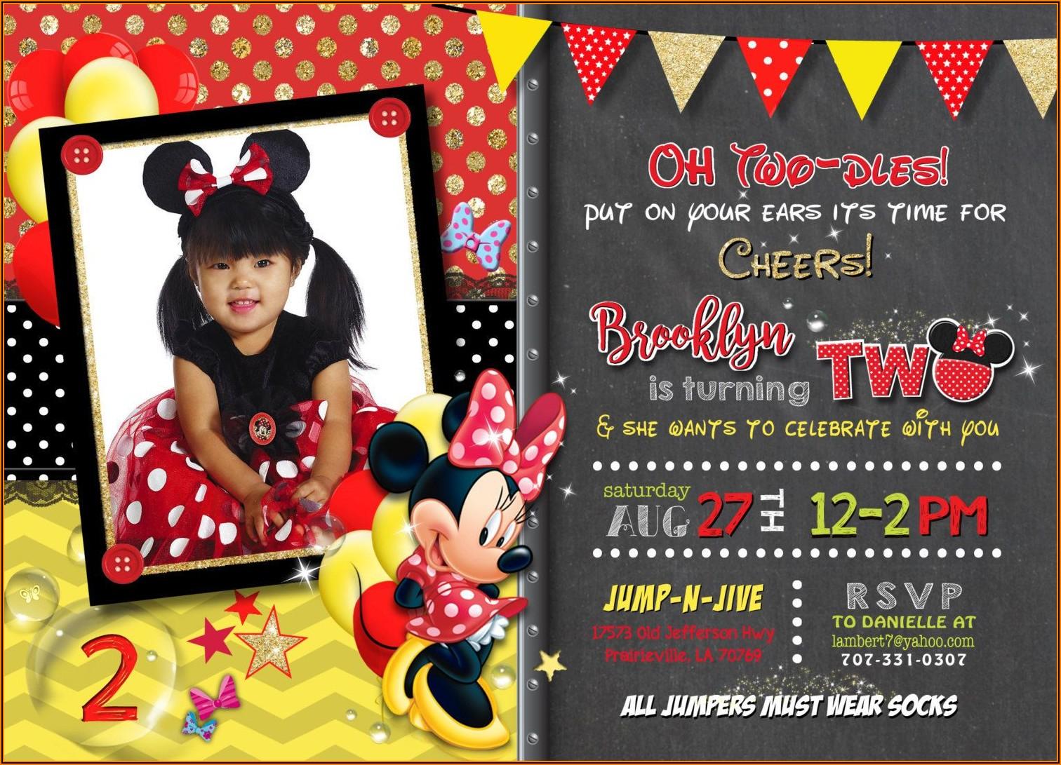 Minnie Mouse 2nd Birthday Invitation Ideas
