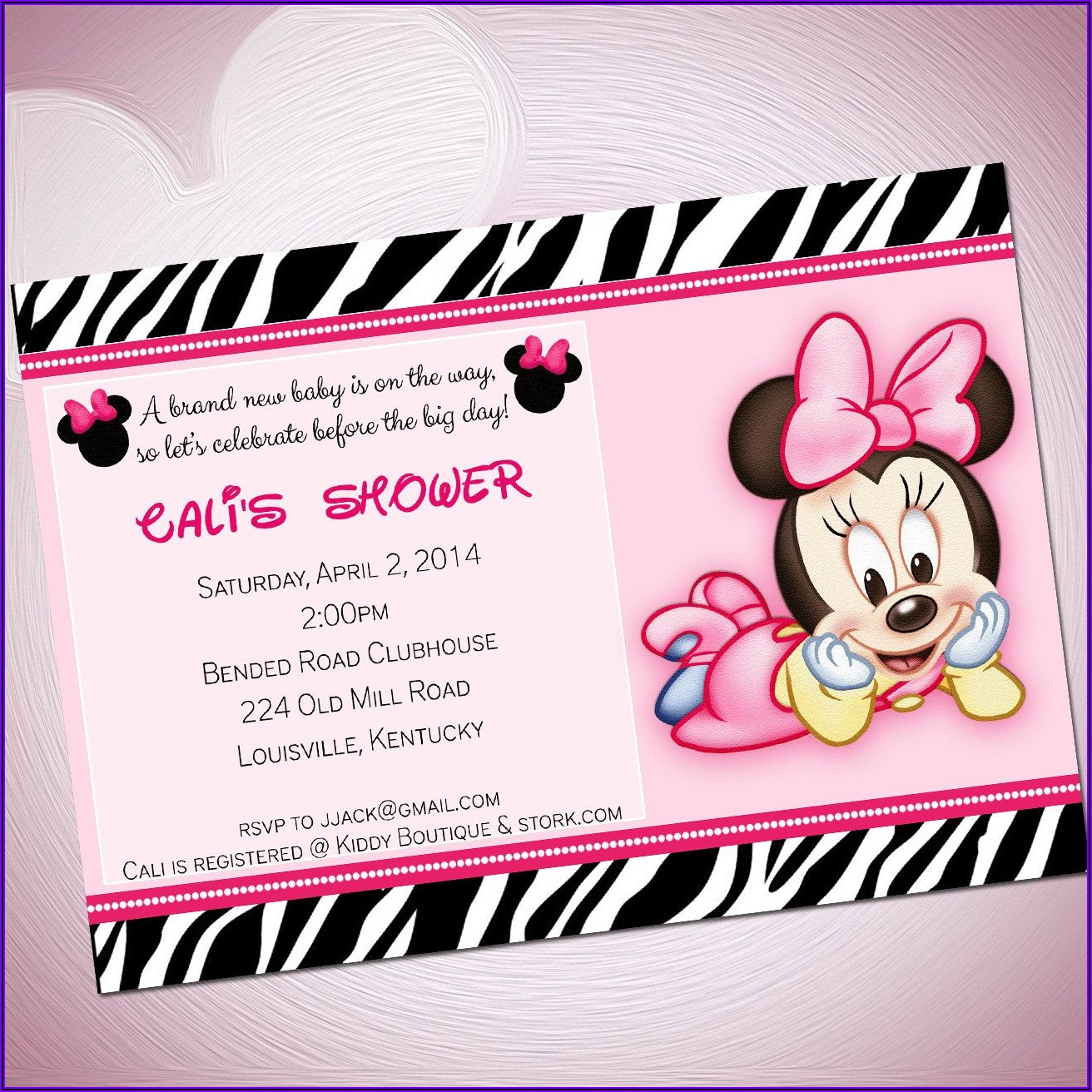 Minnie Mouse Invitations Online
