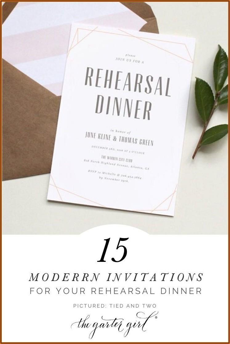 Minted Rehearsal Dinner Invitations
