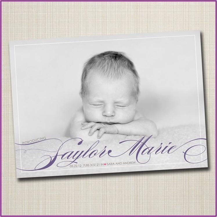 Modern Birth Announcement Cards