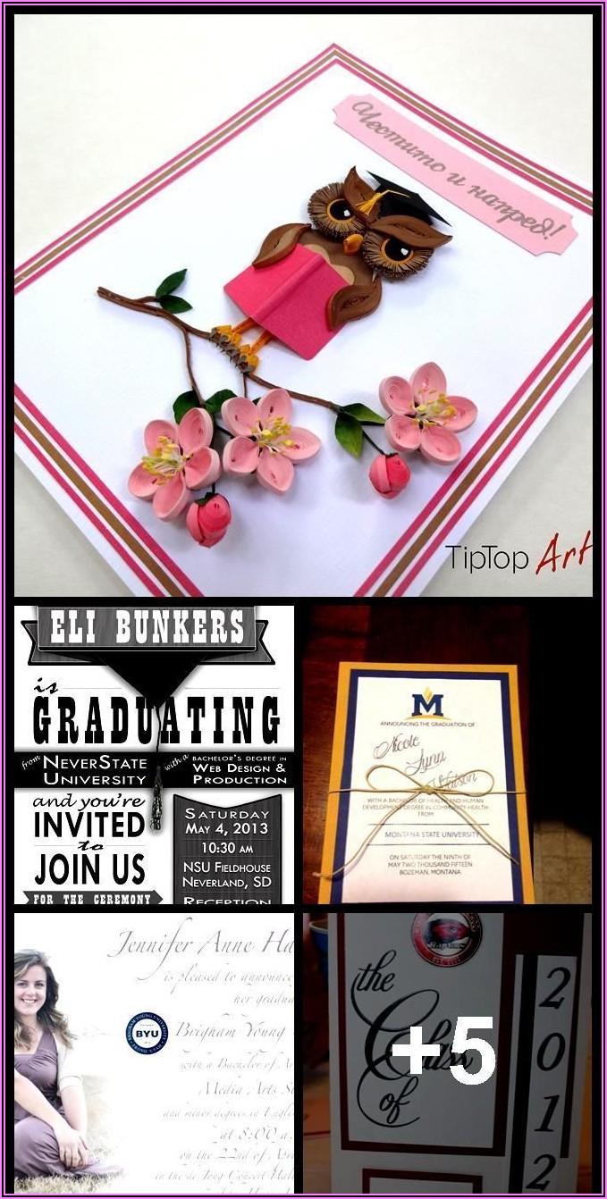 Montana State University Graduation Announcements