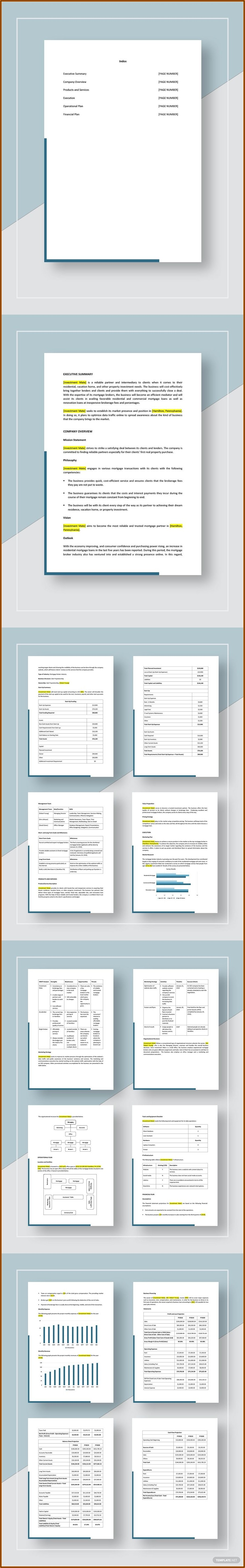 Mortgage Broker Business Plan Template Free