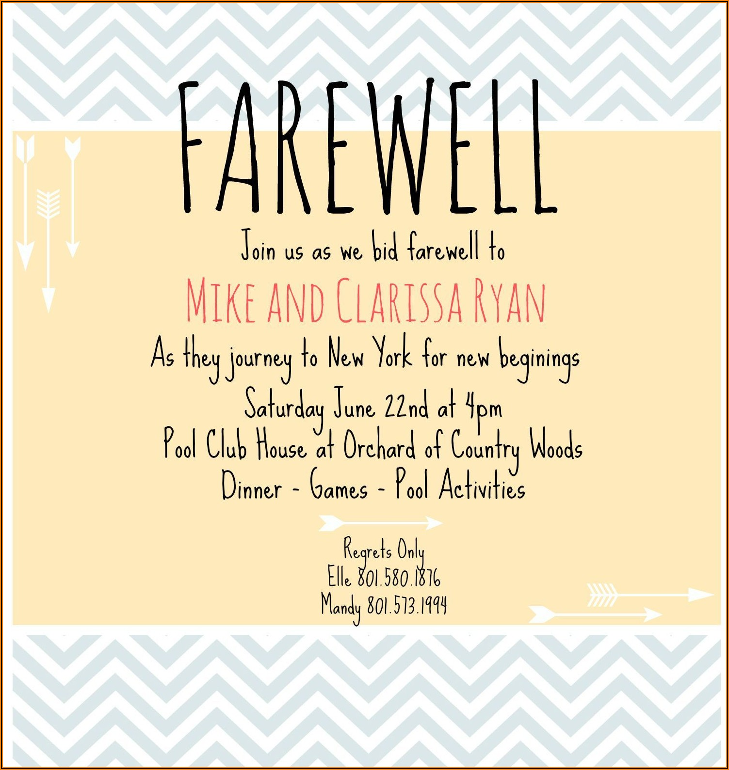 My Farewell Lunch Invitation Email To Colleagues