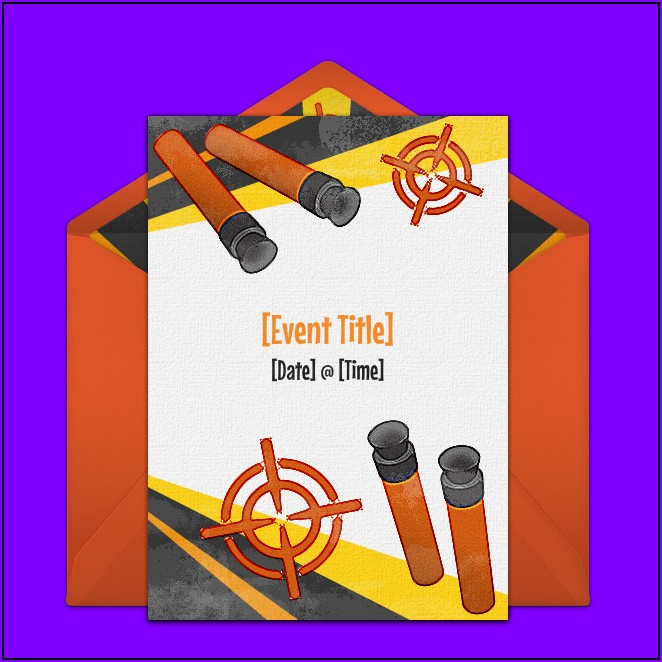 Nerf Gun Party Invites Free