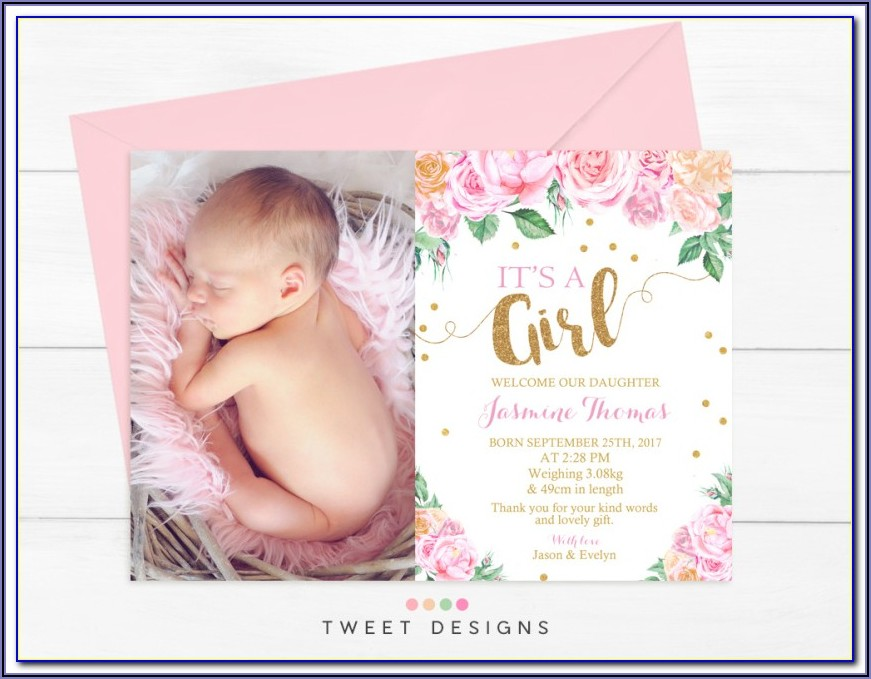 Newborn Baby Announcement Template Free Download