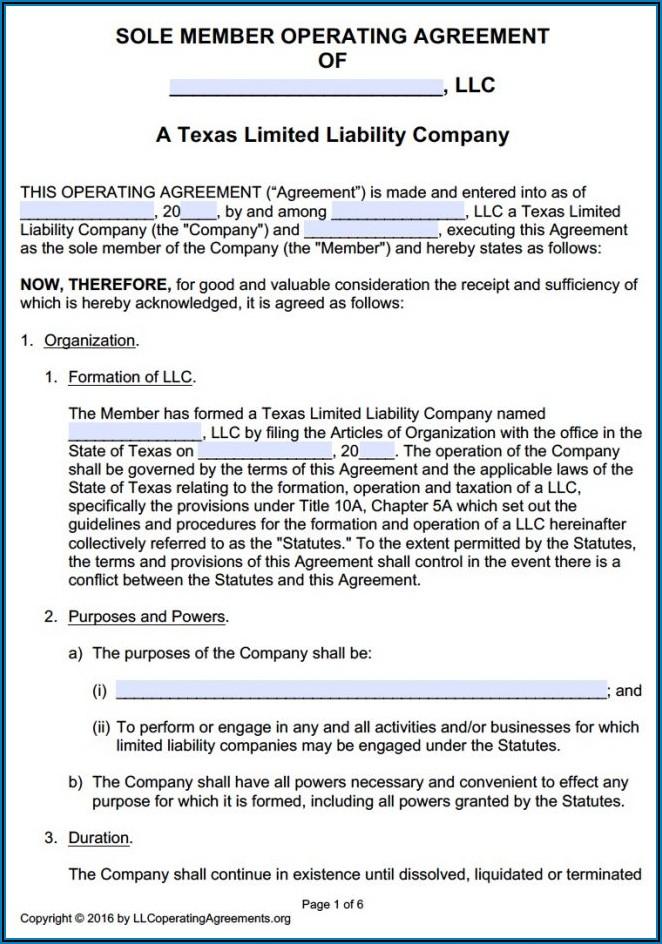 Nj Llc Operating Agreement Template Free