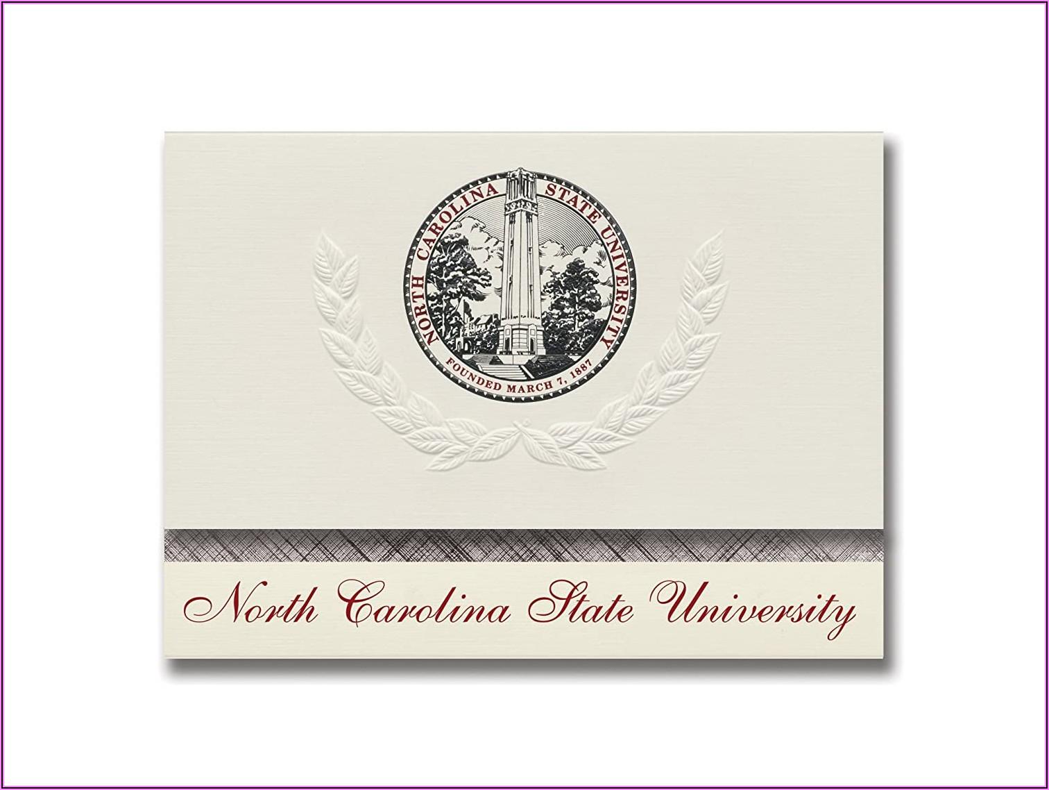 North Carolina State University Graduation Announcements
