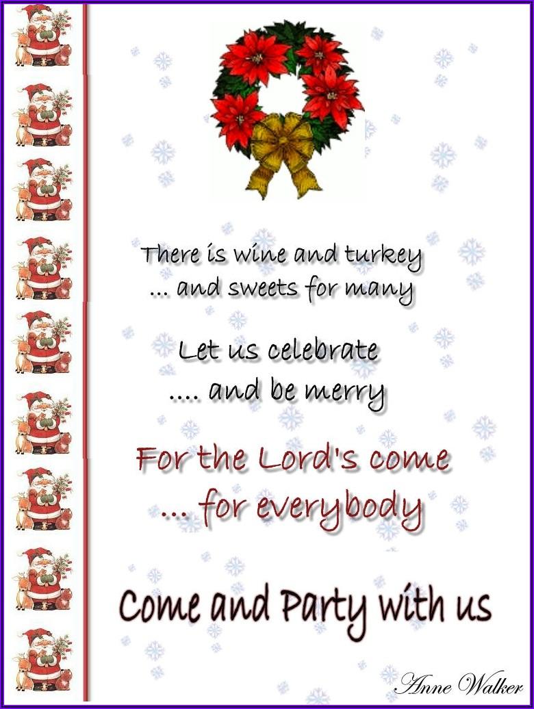 Office Christmas Luncheon Invitation Wording