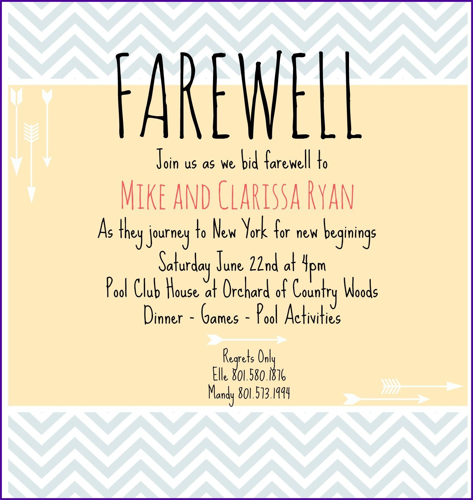 Office Farewell Lunch Invitation Wording