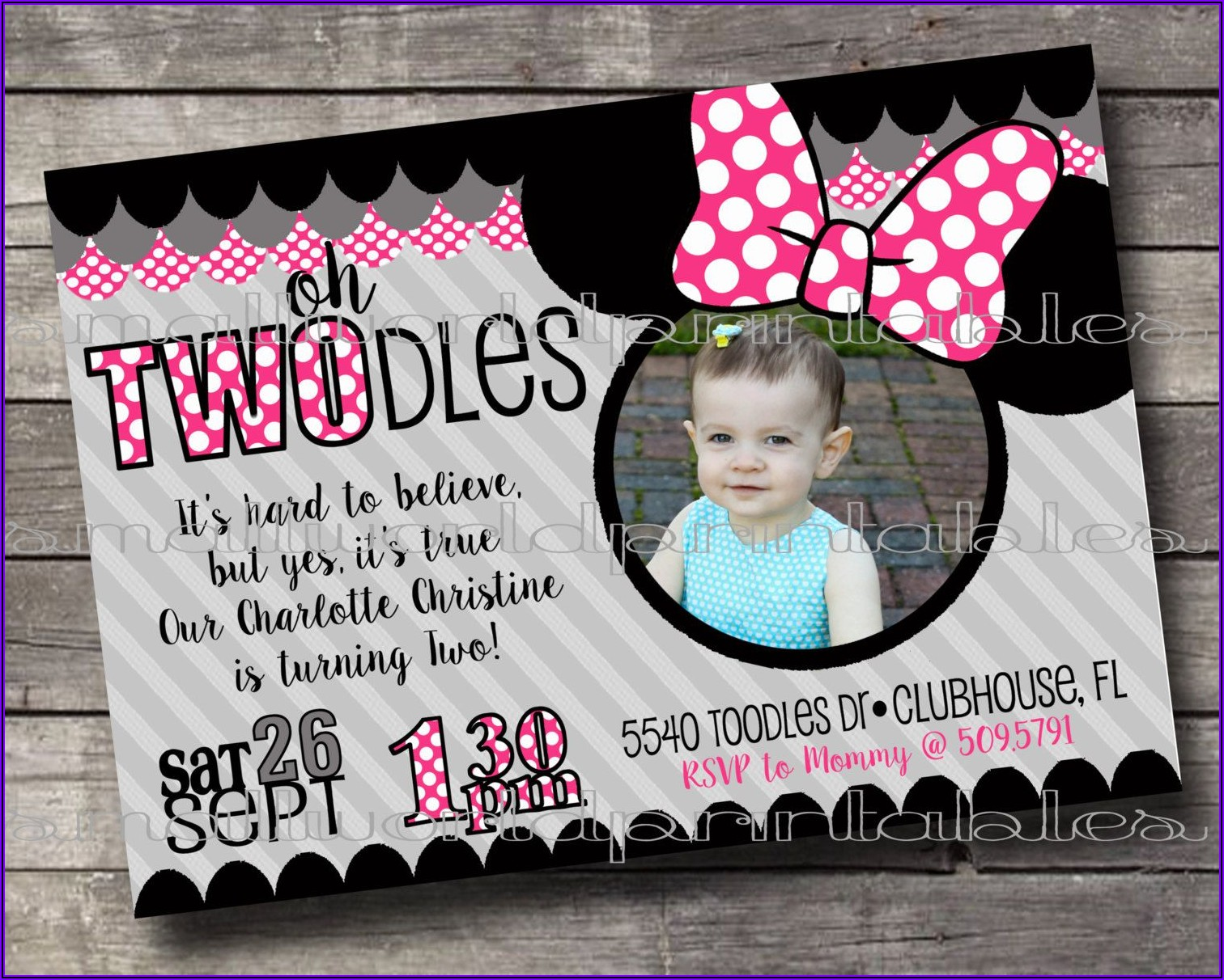 Oh Toodles Birthday Party Invitations