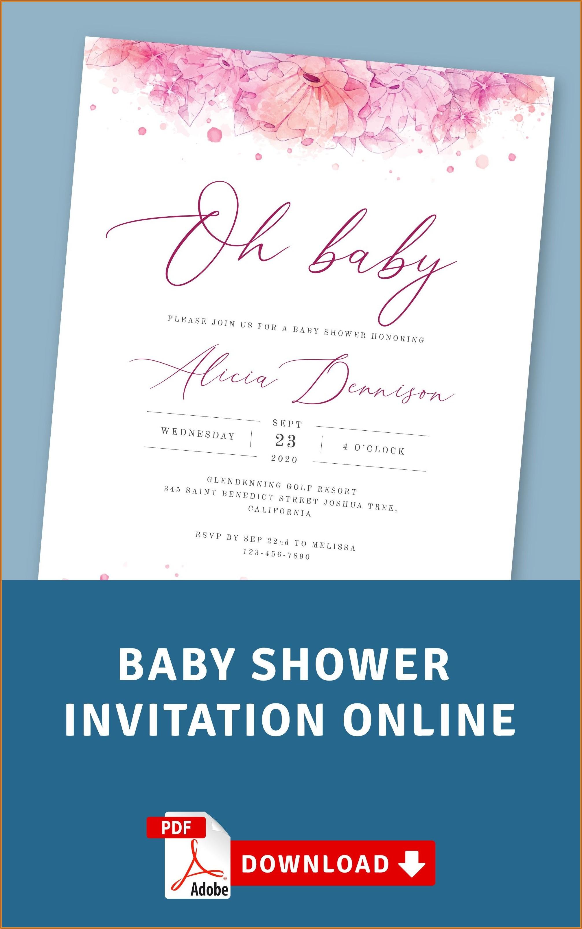 Online Baby Shower Invitation Templates