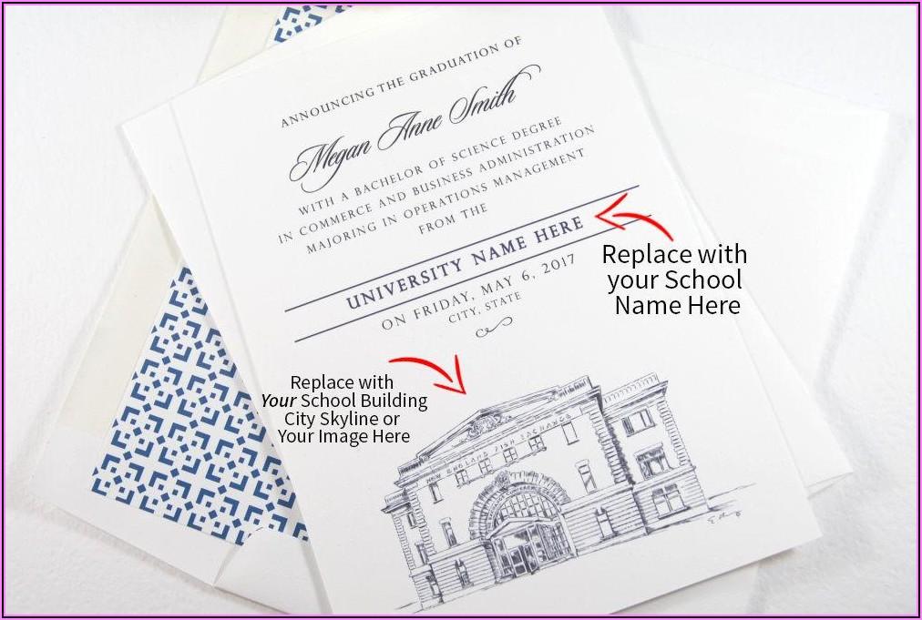 Penn State Graduation Invitation