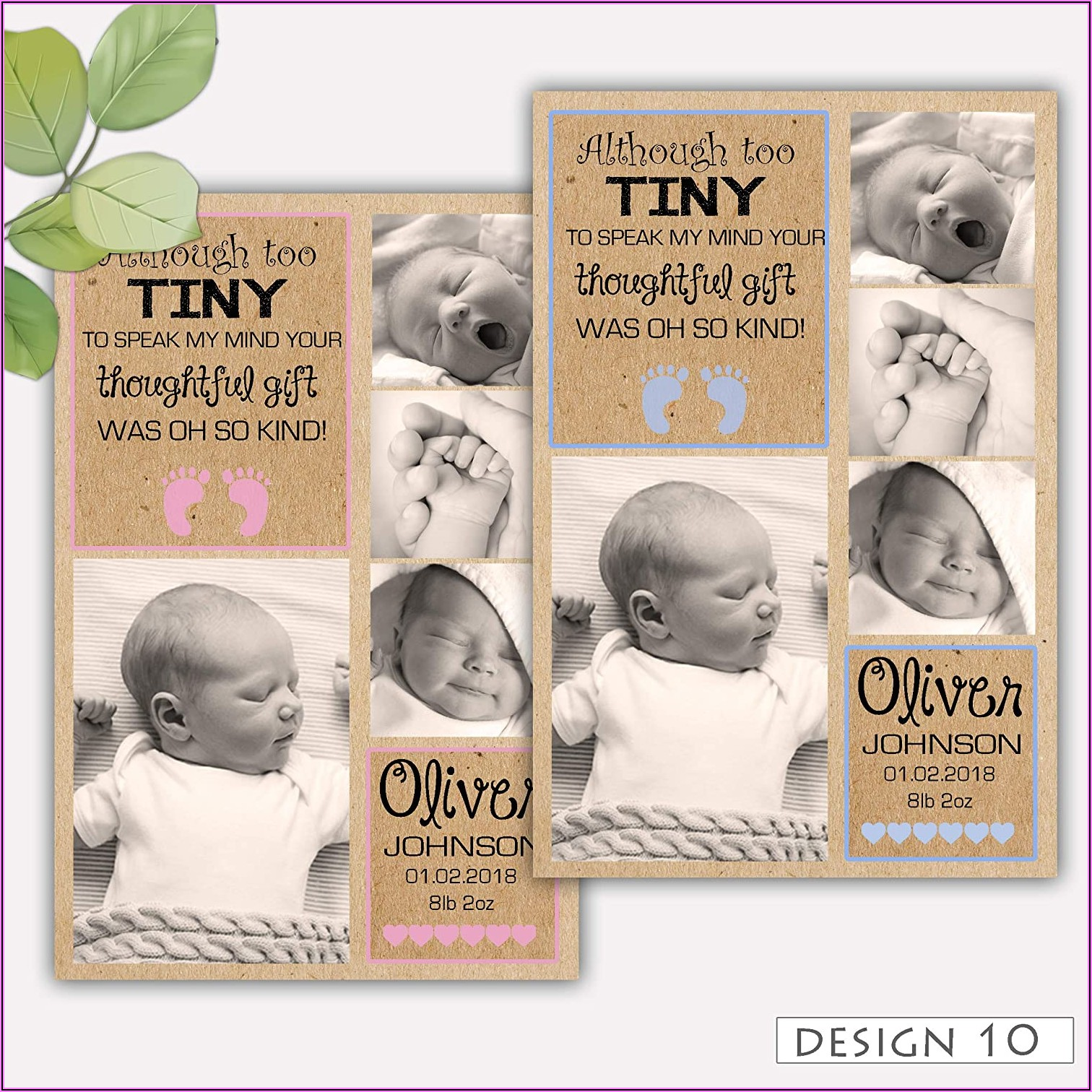 Personalised Birth Announcement Cards