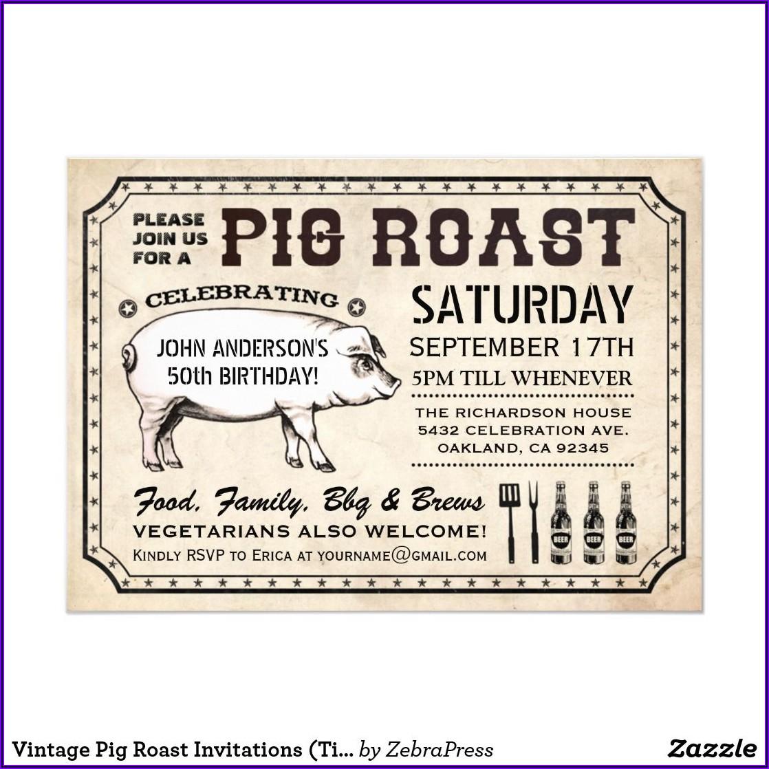 Pig Roast Invitations Templates Free