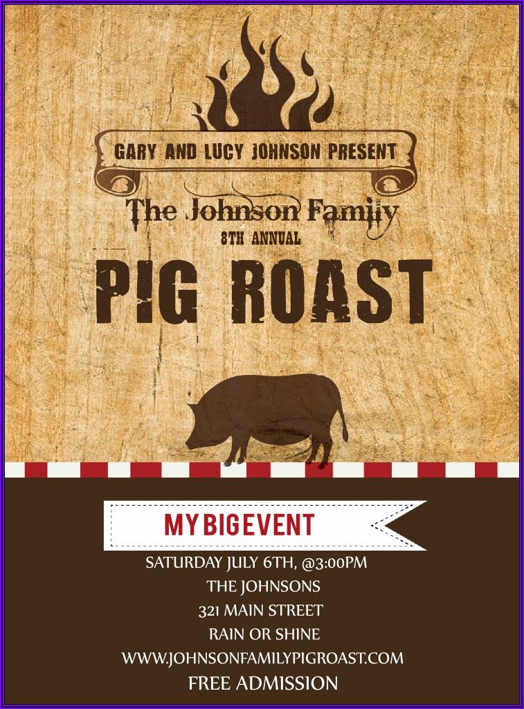 Pig Roast Invitations Templates