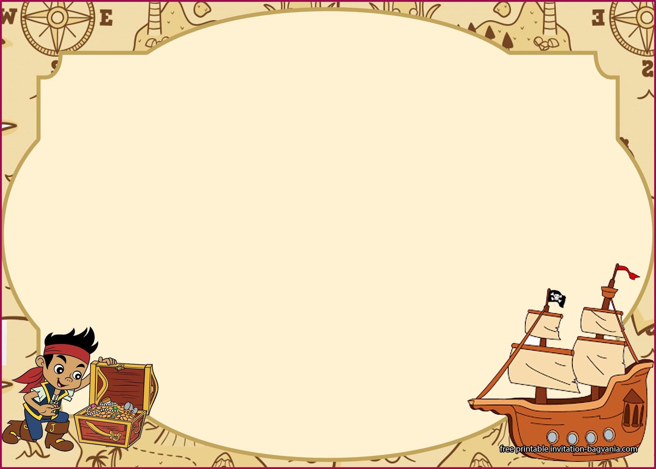 Pirate Birthday Invitations Free Printable