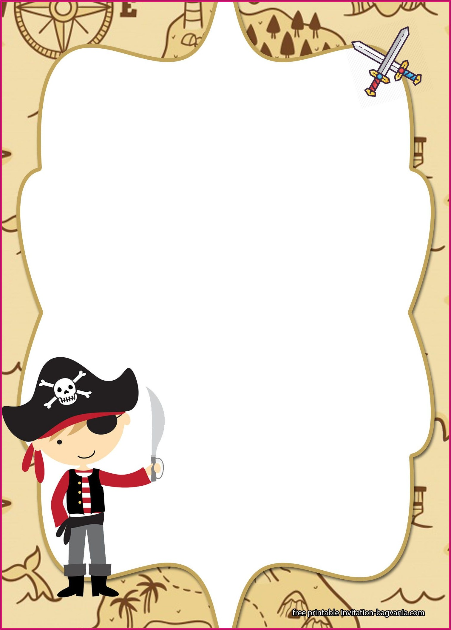 Pirate Party Invitations Free Printable