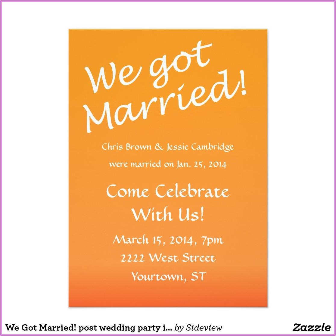 Post Wedding Announcement Wording Samples