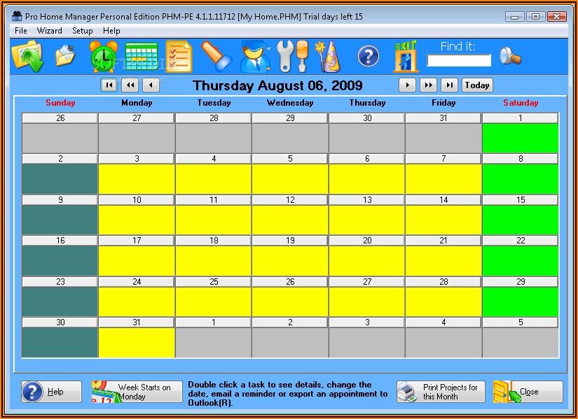 Preventive Maintenance Schedule Excel Template
