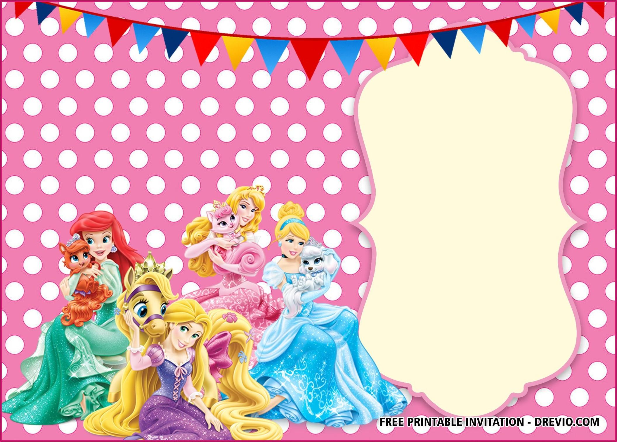 Princess Invitation Template Free