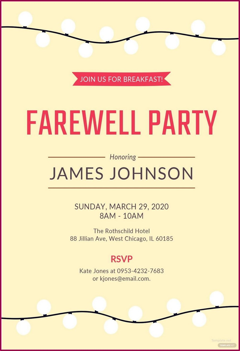 Printable Downloadable Free Retirement Party Invitation Templates For Word