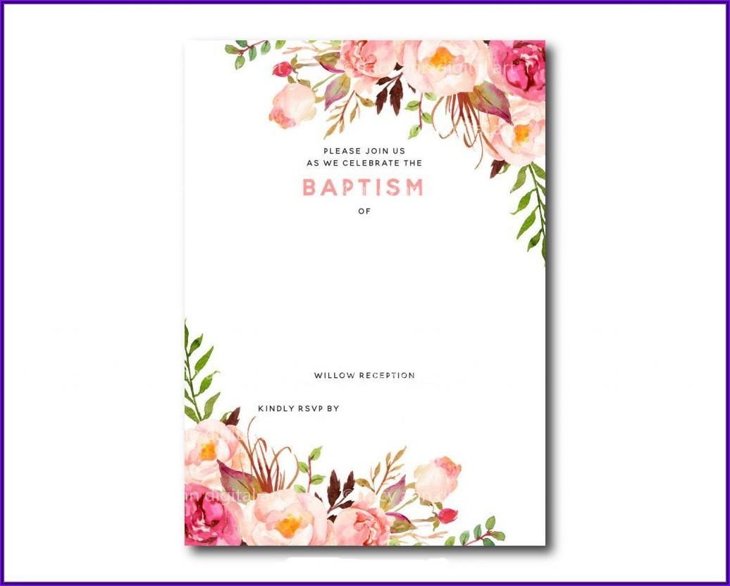 Printable Floral Invitation Template Free