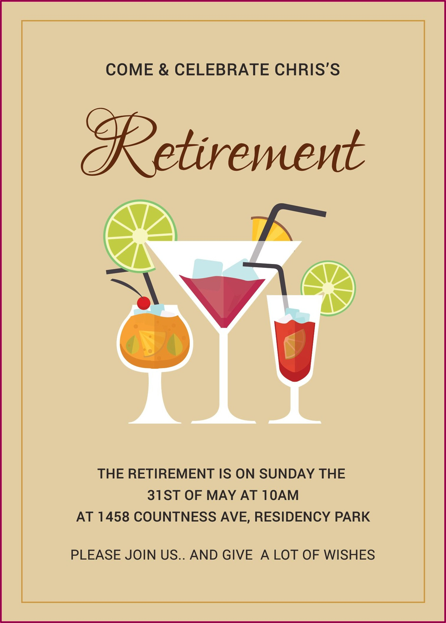 Printable Retirement Invitation Template