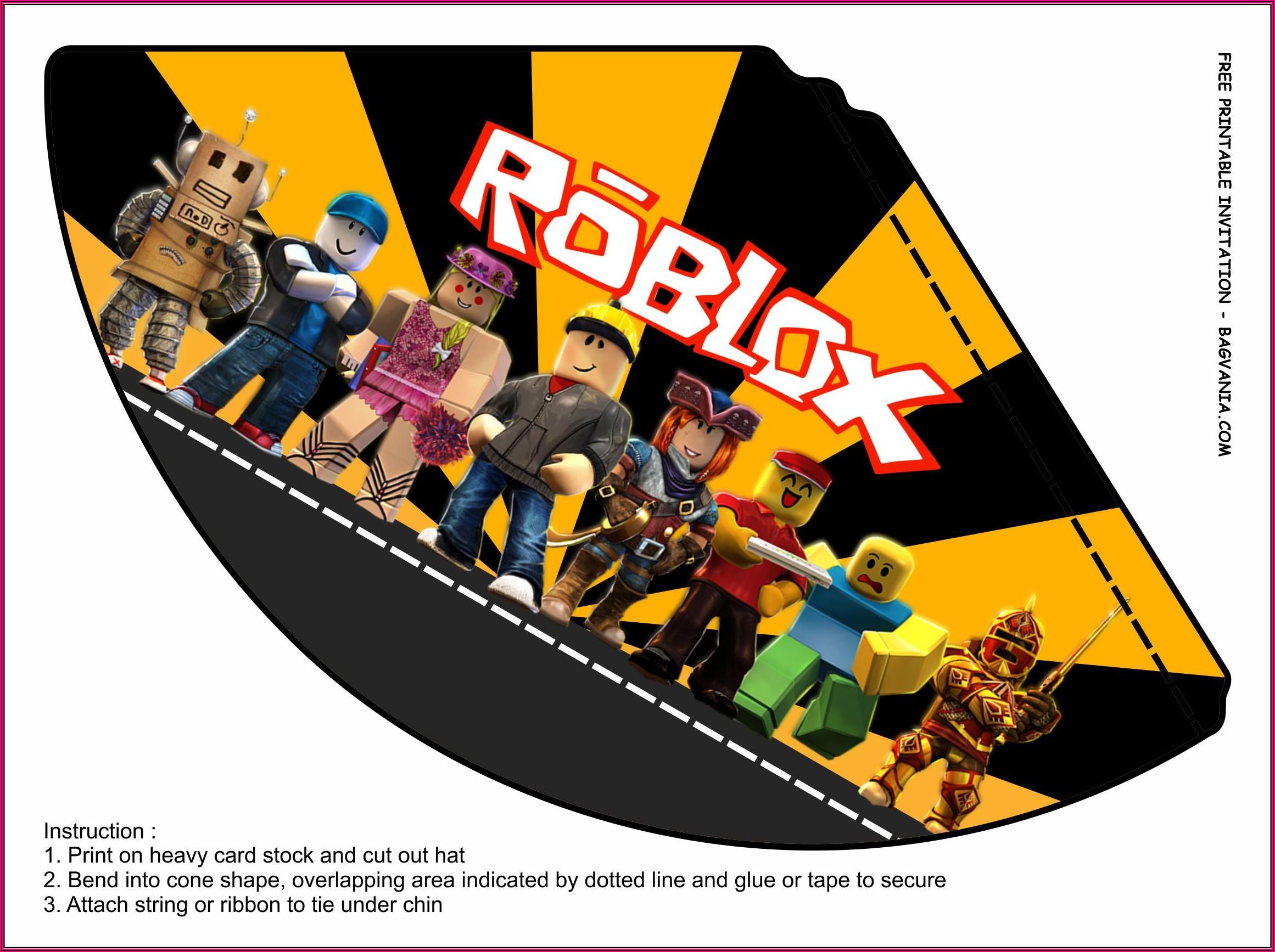 Printable Roblox Roblox Birthday Invitation Template