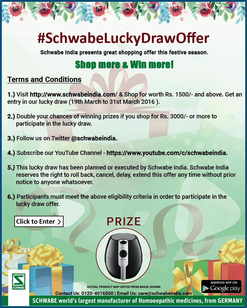 Prize Draw Terms And Conditions Template