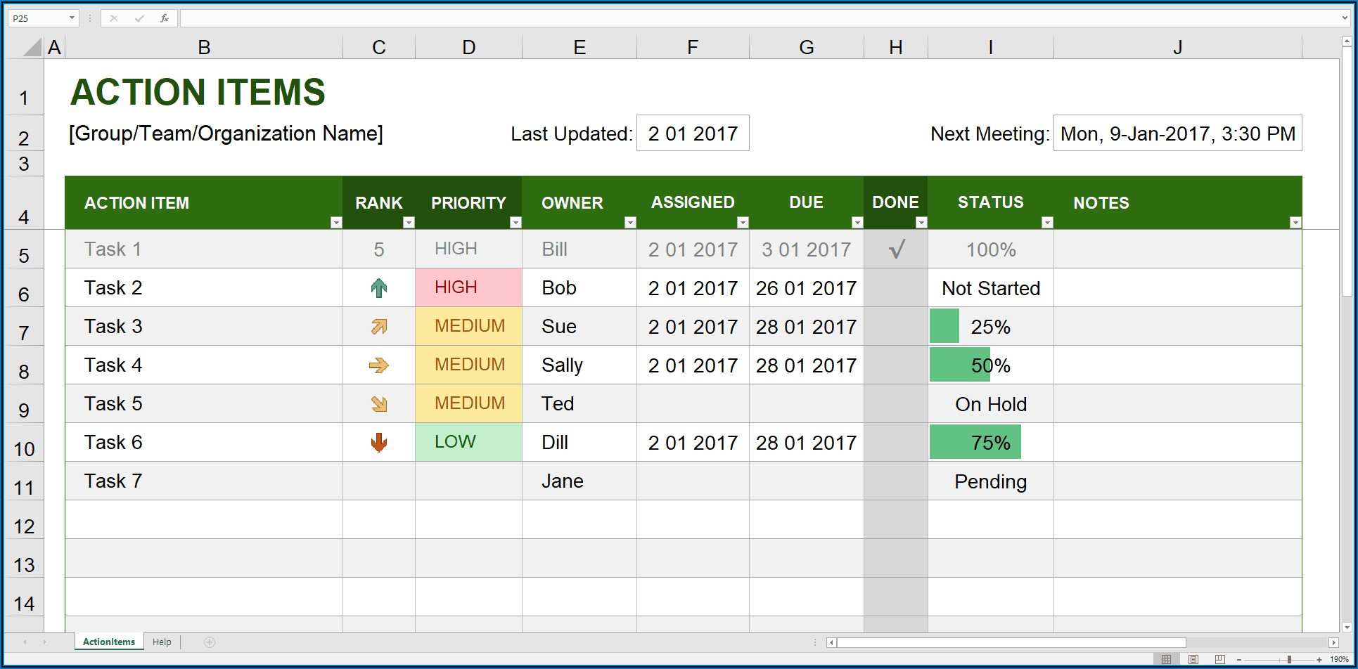 Project Cost Tracking Excel Template Download Now